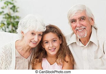 enkelin, großeltern
