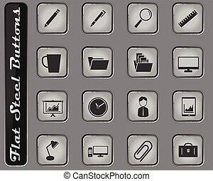 enkelt, ämbete ikon