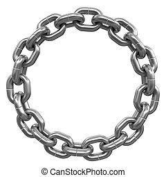 enlaces de cadena, unido, en, anillo