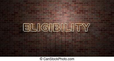 enladrillado, eligibility, neón, tubo, -, señal, ...