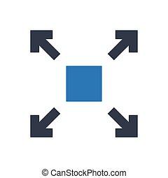 enlarge  glyph color icon