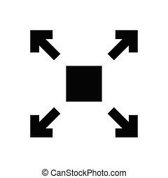 enlarge  glyph flat icon