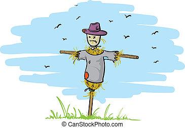 enlige, scarecrow