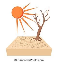 enlige, træ, afdødte