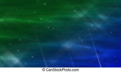 Enlighten Aquamarine Abstract Loop
