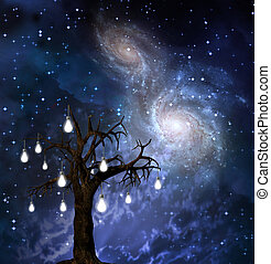 Enlighten - Tree with light bulbs