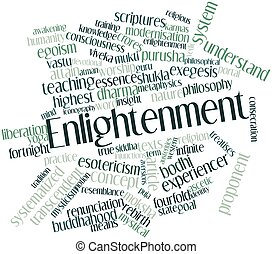Enlightenment - Abstract word cloud for Enlightenment with...