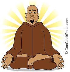 Enlightenment - Guru has achieved enlightenment through...