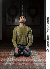 Enlightenment - Muslim Man Is Praying In The Mosque