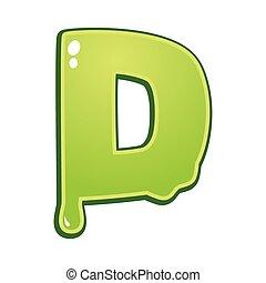 enlodado, fonte, tipo, d, letra