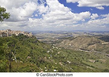 Enna quater - Enna is the highest Italian provincial capital...