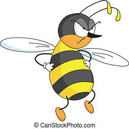 enojado, abeja