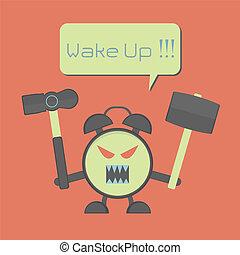 enojado, despertador