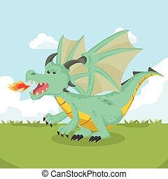 enojado, dragón