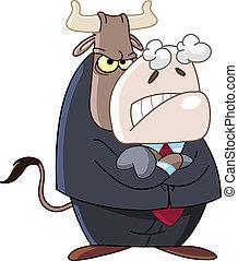 enojado, empresa / negocio, toro