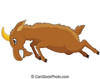 enojado, goat, caricatura