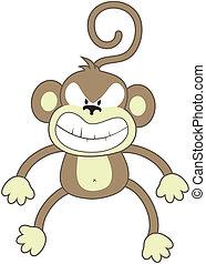 enojado, mono