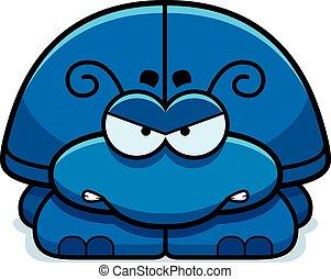 enojado, poco, escarabajo