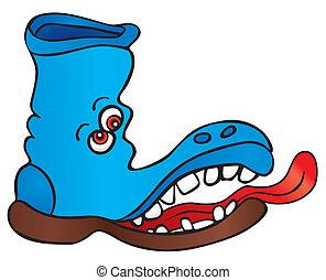 enojado, zapato