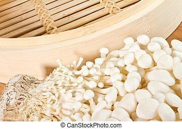 enoki, cogumelos