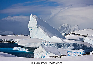 enorme, antártica, iceberg