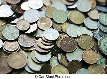 enorme, bulgarian, moedas, pilha
