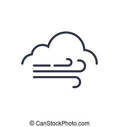 enorme, clima, conceito, previsão, vento tempo, ícone