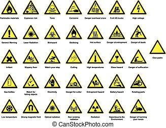 enorme, cobrança, de, perigo, sinais