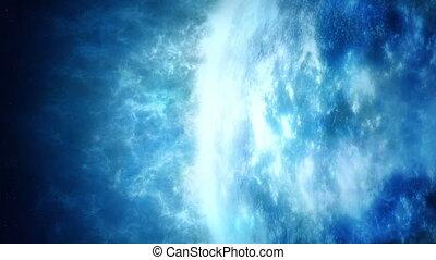 enorme, gassoso, pianeta blu