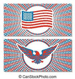enorme, jogo, objeto, isolado, 4th, eleição, vetorial, white., julho, dia, presidencial, independência