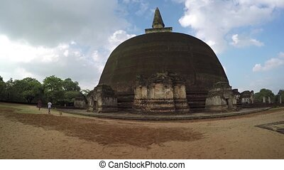 Enormous Stupa at Polonnaruwa Religious Site - Visitors...