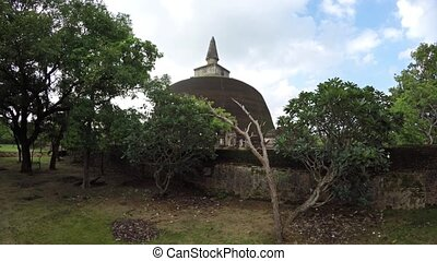 Enormous Stupa in Polonnaruwa, Sri Lanka. FullHD 1080p video...