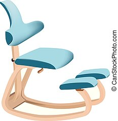 enquanto, cadeira ergonomic, relaxante, sentando