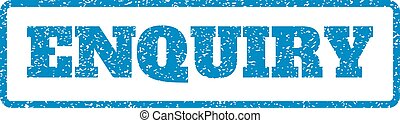 Enquiry Rubber Stamp - Blue rubber seal stamp with Enquiry...