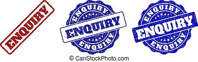 ENQUIRY Scratched Stamp Seals - ENQUIRY scratched stamp...