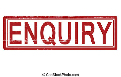 Enquiry - Stamp with word enquiry inside, vector...