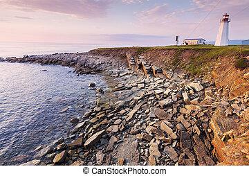 Enragee Point Lighthouse in Nova Scotia