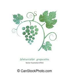 enredadera de uva, seamless, fondo.