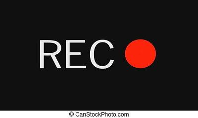enregistrement, bouton, icon.