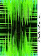 enregistrement, compensateur, audio, arrière-plan vert