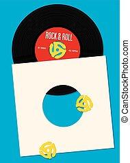 enregistrement, conception, vinyle, gabarit