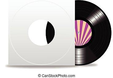 enregistrement, couverture, vinyle