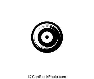 enregistrement, musique, vinyle, icône