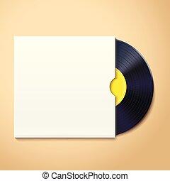 enregistrement, ombre, vinyle