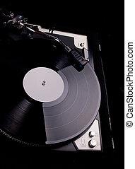 enregistrement, platine, analogue, joueur