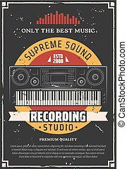 enregistrement, studio musique, piano, keyboard.