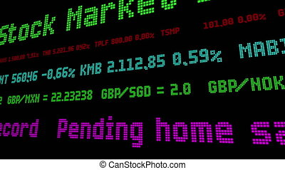 enregistrement, ticker, plus grand, attente, stockage, déclin, ventes, scie, maison