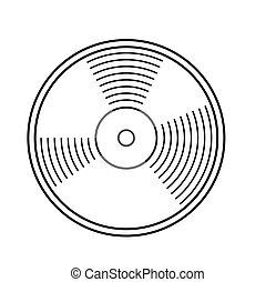 enregistrement, vecteur, vinyle, illustration.
