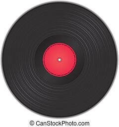 enregistrement, vecteur, vinyle, illustration