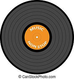 enregistrement, vecteur, vinyle